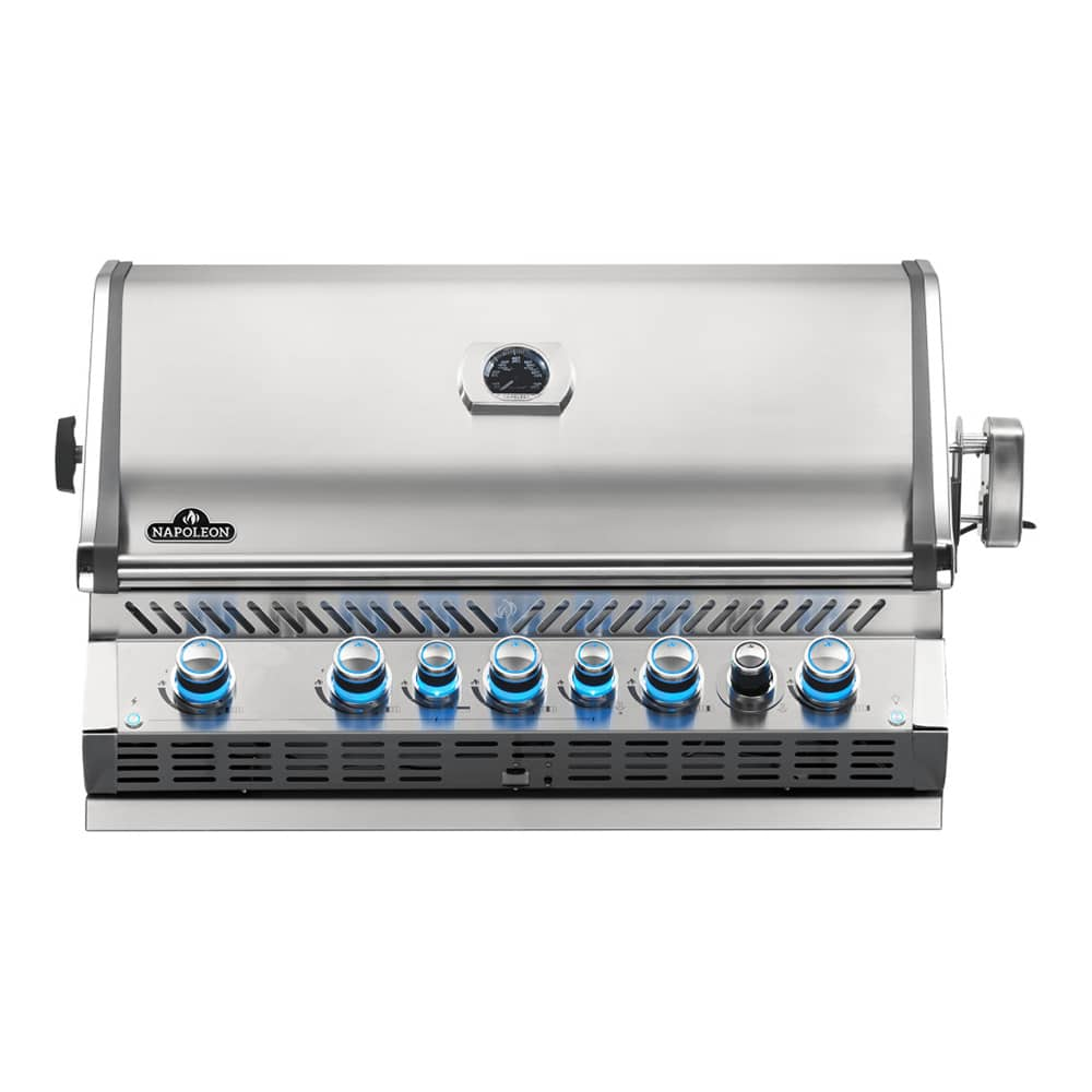 Napoleon Prestige Pro 665 5 Burner Built In Gas Grill With Infrared Rear New Model The