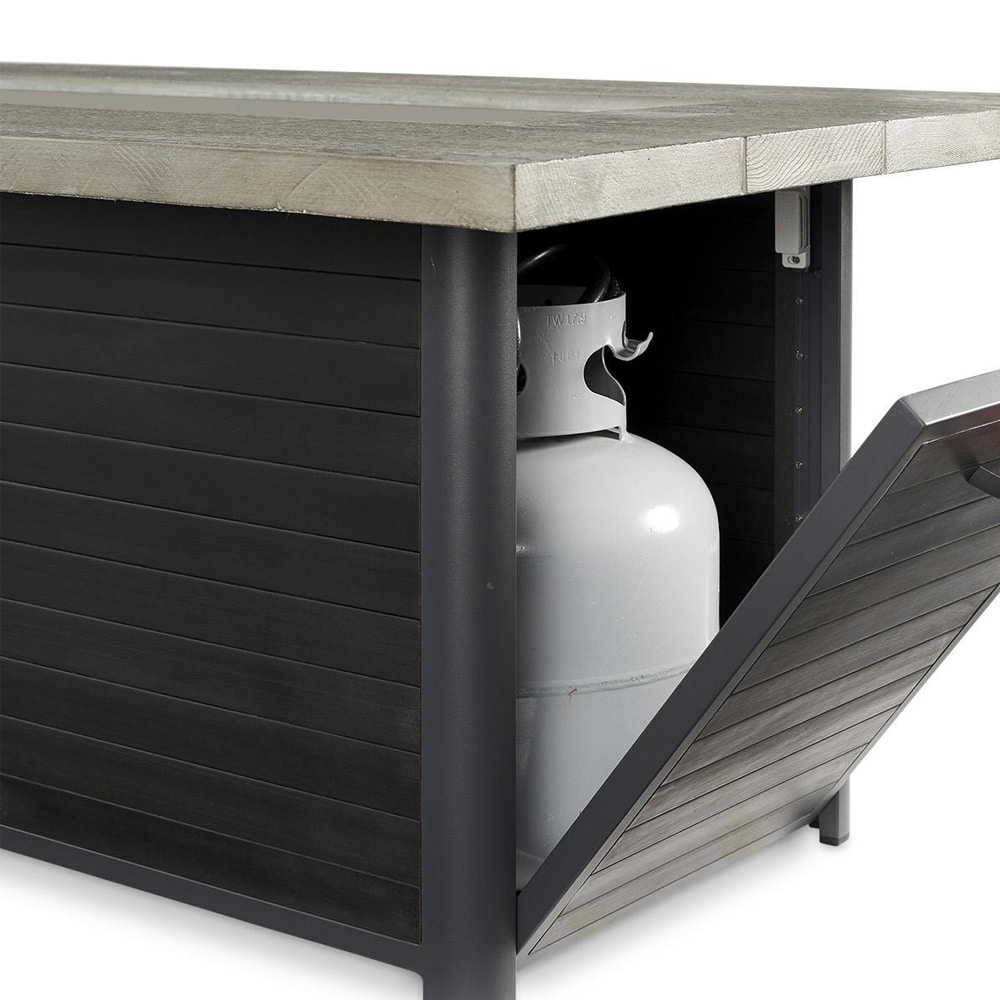 Cedar Ridge 61 Inch Linear Gas Fire Pit Table With Crystal Fire Burner Marx Fireplaces Lighting