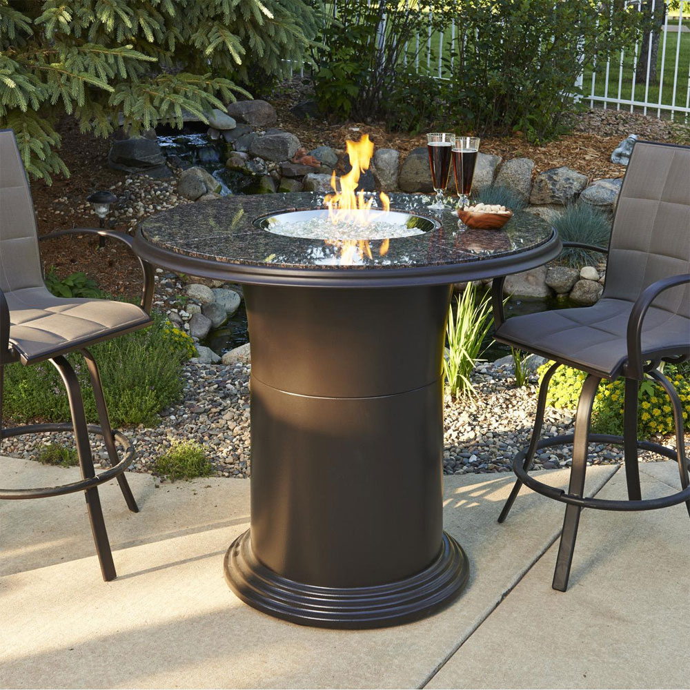 Grand Colonial 48 Inch Round Dining Height Gas Fire Pit