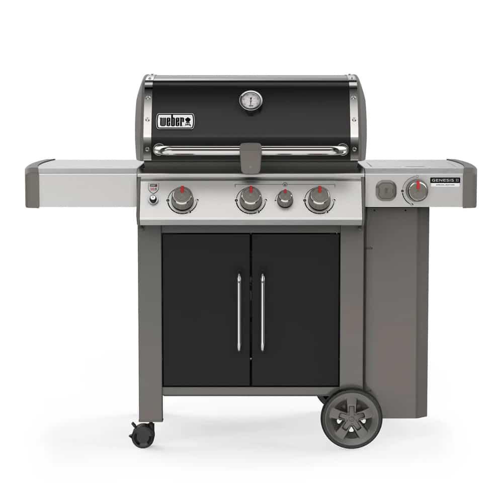 weber genesis ii se 335 3 burner gas grill with side. Black Bedroom Furniture Sets. Home Design Ideas