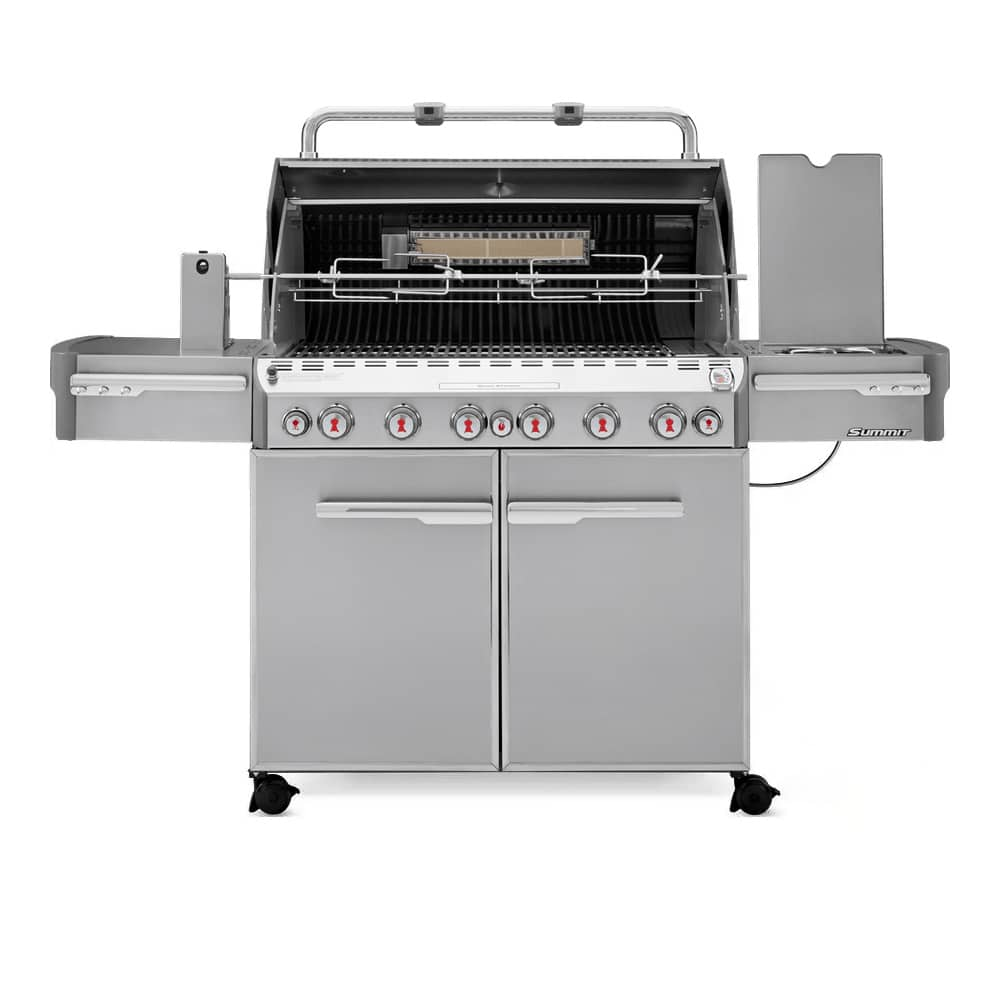 Weber Summit S-670 6-Burner Gas Grill with Rotisserie & Side Burner | Marx  Fireplaces & Lighting