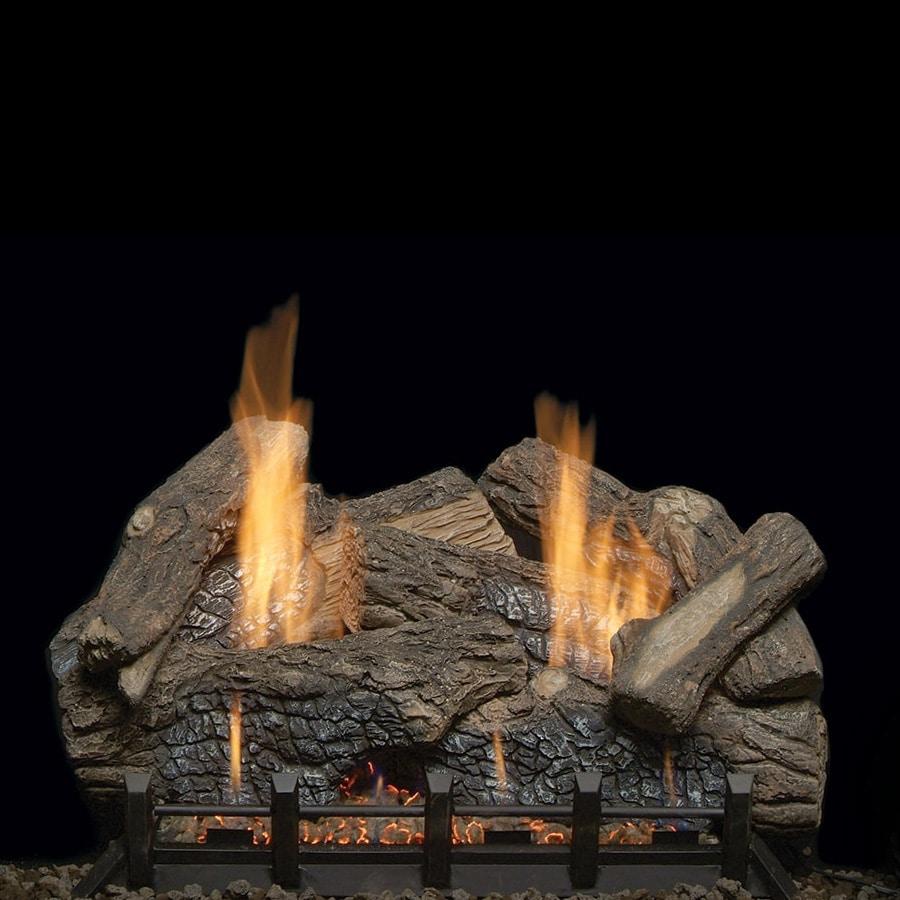 Monessen Highland Oak Ventless Gas Log Set With Natural Blaze Burner