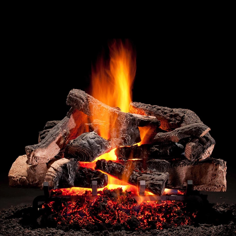 Hargrove Rustic Timbers Vented Gas Log Set With H Burner